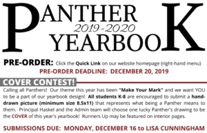 YEARBOOK PRE-SALE & COVER CONTEST