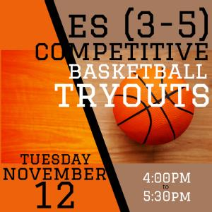 ES 3-5 BASKETBALL TRYOUTS