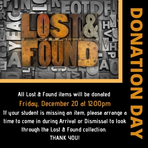 LAST CHANCE TO REUNITE WITH YOUR LOST ITEMS!