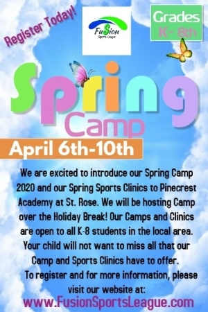FUSION SPRING BREAK CAMP CANCELED